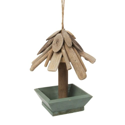 Little Palm Tree Wooden Bird Feeder  - Rustic Design Hanging Garden Ornament and Bird Feeder